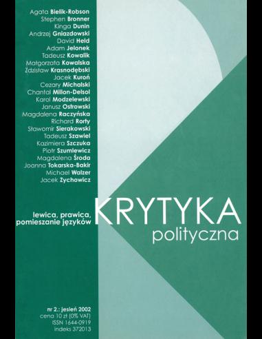 Krytyka Polityczna nr 2: Lewica, prawica, pomieszanie języków
