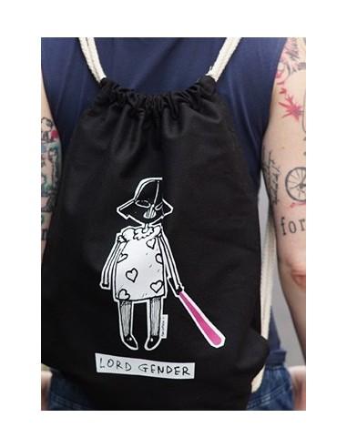 Czarny plecak bawełniany Lord Gender